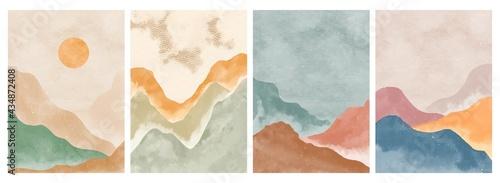 Fotografie, Tablou Natural abstract mountain on set