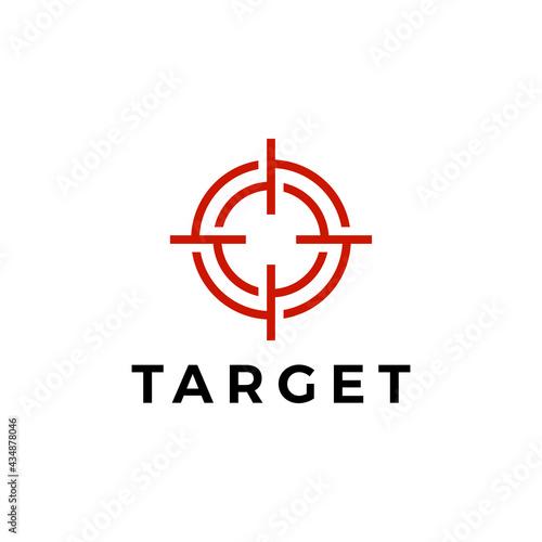 Obraz na plátně target sniper scope red logo vector icon illustration