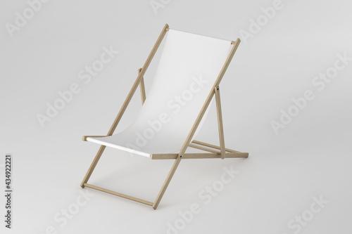 Fotografija Beach chair mockup on soft color background