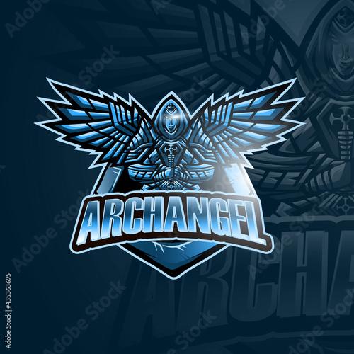 archangel logo mascot vector illustration Fotobehang