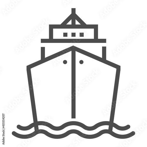 Fotografia Marine, transport industry, square line vector icon.