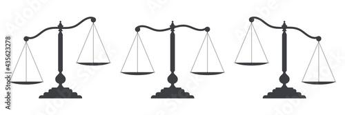 Fototapeta Scales of justice set