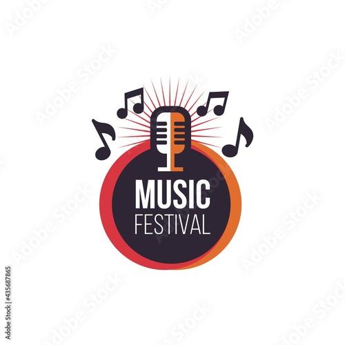 Photographie music festival decoration template