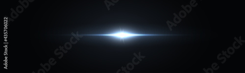 Fotografie, Tablou Glowing blue flare for futuristic and space design, vector illustration