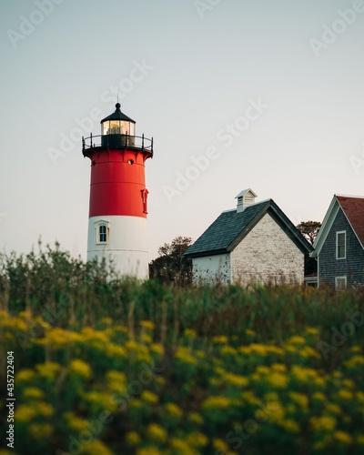 Fotografie, Obraz Nauset Lighthouse, in Cape Cod, Massachusetts