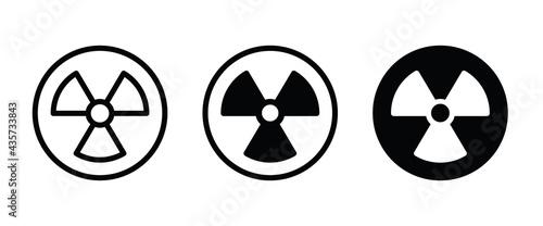 Stampa su Tela Radiation toxic icon, Warning symbol