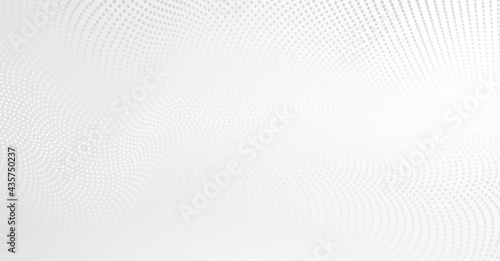 Canvastavla Vector background with white abstract wave dots