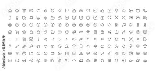 Cuadros en Lienzo 160-basic minimal-icons 160 ミニマルアイコン