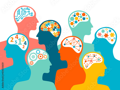 People with different brain characteristics Fototapeta