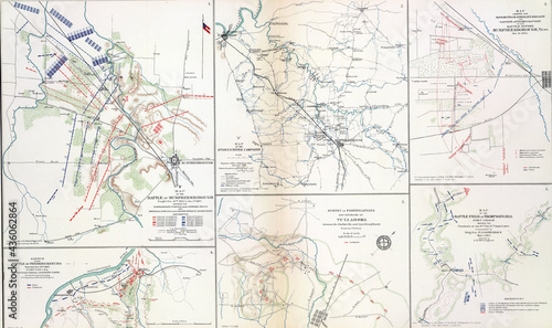 Fotografering Maps of key battles and movements of the civil war