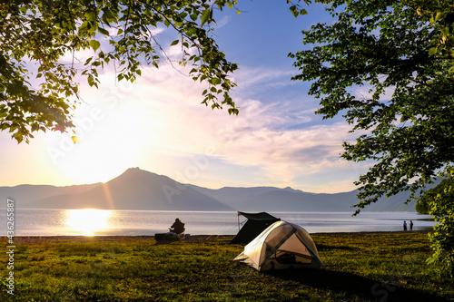 Fotografie, Obraz ソロキャンプの朝