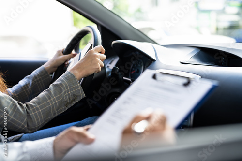 Photo Driving License Lesson Or Test
