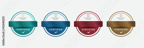 Valokuva Badge luxury certificates modern logo company