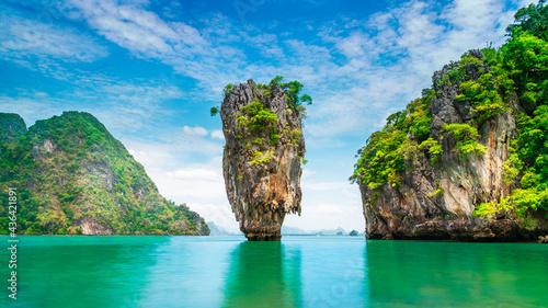 Fotografija Amazed nature scenic view landscape James bond island Phang-Nga bay, Attraction