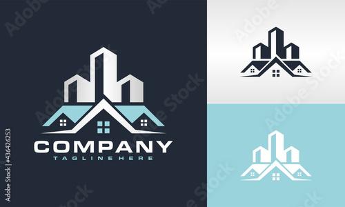 Photographie real estate city building logo