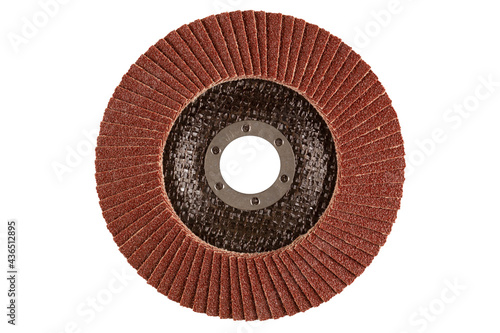 Leinwand Poster Angle grinder flap disc for grinding and finishing
