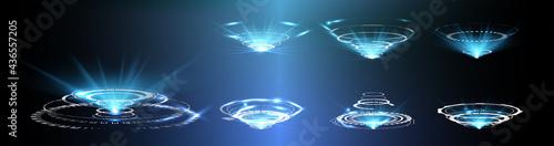 Fotografie, Obraz HUD, GUI futuristic portal, hologram