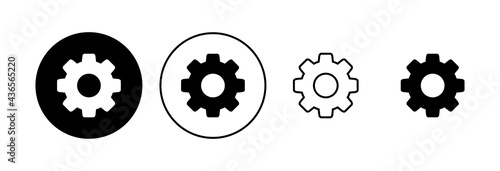Fotografia Setting Icon set. Cog Settings Icon Symbol
