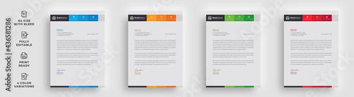 Fotografia, Obraz letterhead flyer business corporate professional trendy unique official newest a