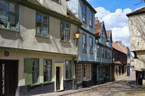 Fotografia Elm Hill, Norwich, East Anglia, England, UK