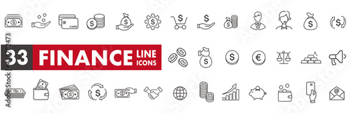 line icon of Vector business and finance Fototapete
