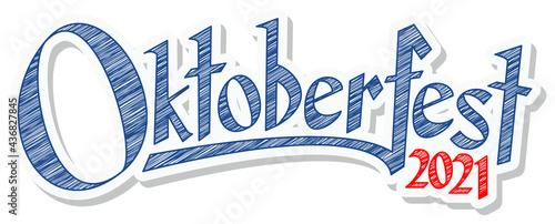 Fotografiet Header with text Oktoberfest 2021