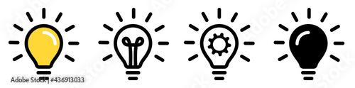 Fotografering Light bulb icon set