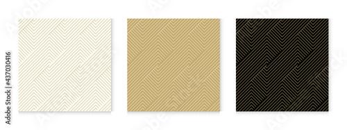 Billede på lærred Background pattern seamless geometric line abstract gold luxury color vector