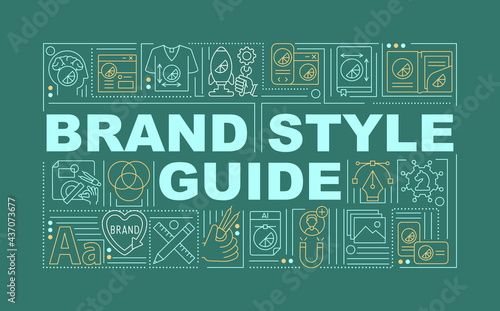 Brand style guide word concepts banner Fototapet