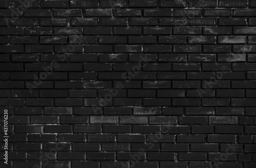 Leinwand Poster A grungy brick wall texture as background.