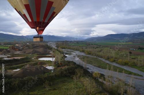 Globo con cesta pasajeros en La Rioja