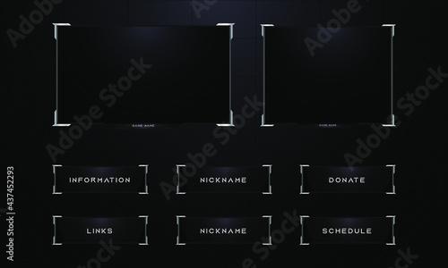 Fotografia Twitch streaming panel overlay set design