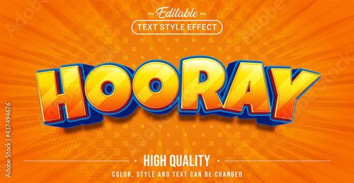 Fotografia Editable text style effect - Fun Hooray text style theme.