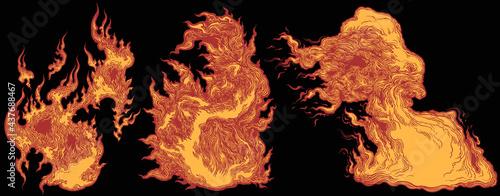 Fotografia Puffs of flame