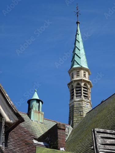 Photo church steeple