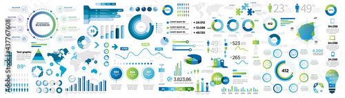 Photo infographics collection