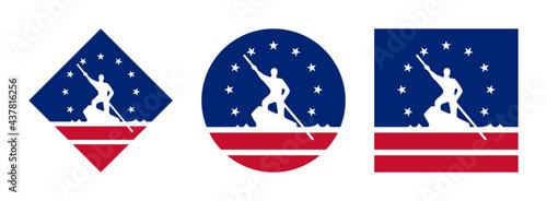 Fotografia Richmond flag icon set. isolated on white background