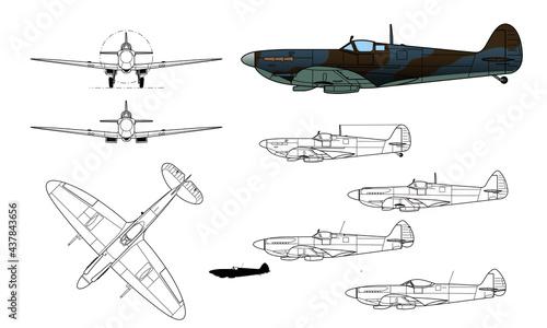 Fotografia Supermarine, Spitfire, WWII fighter aircraft