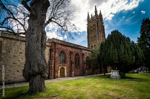 Canvas Print Grounds of St Mary Magdalene in Taunton Somerset