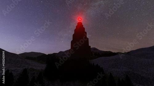 Foto huge black tower