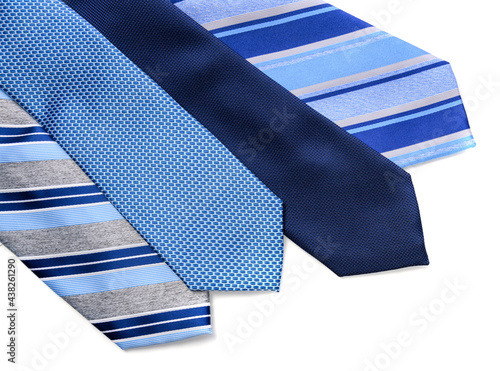 Fotografia A group of blue men's neckties with Father's Day greeting