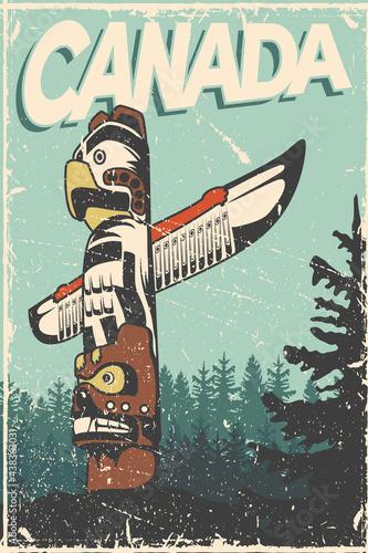 Obraz na plátně canadian vintage card