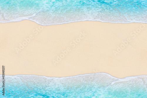 Wallpaper Mural Soft wave of Blue ocean on sandy Beach