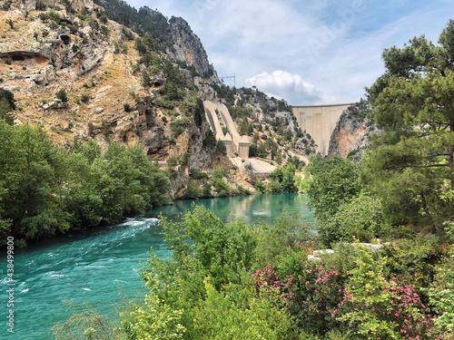 Fototapeta Landscapes of a green canyon in Turkey