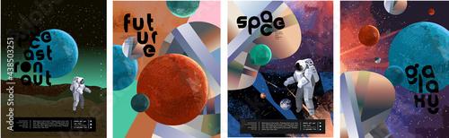 Canvastavla Space, astronaut and galaxy