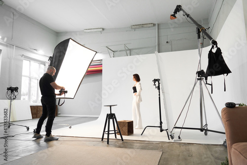Fotografering Fashion photography in a photo studio