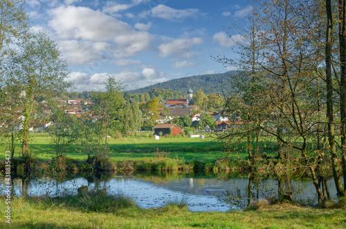 Carta da parati Grafenwiesen im Bayerischen Wald,Oberpfalz,Bayern,Deutschland