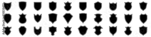 Canvas Print Collection of shield icons