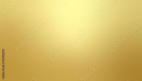 Billede på lærred Gold gradient blurred background with soft glowing backdrop, background texture