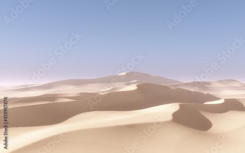 Obraz na plátně 3D abstract desert landscape scene